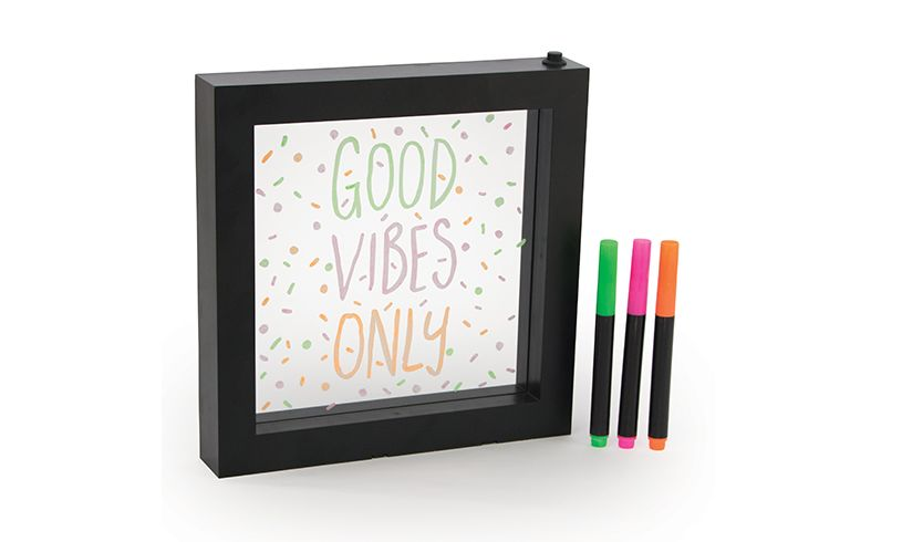 neon effect message frame for 7 year old girls