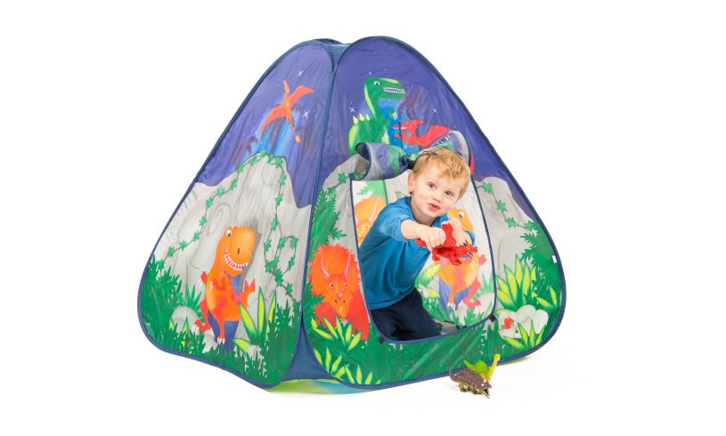 dinosaur cave pop-up play tent
