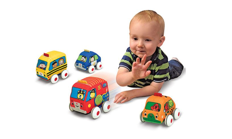 pull back town vehicles for 1 year olds