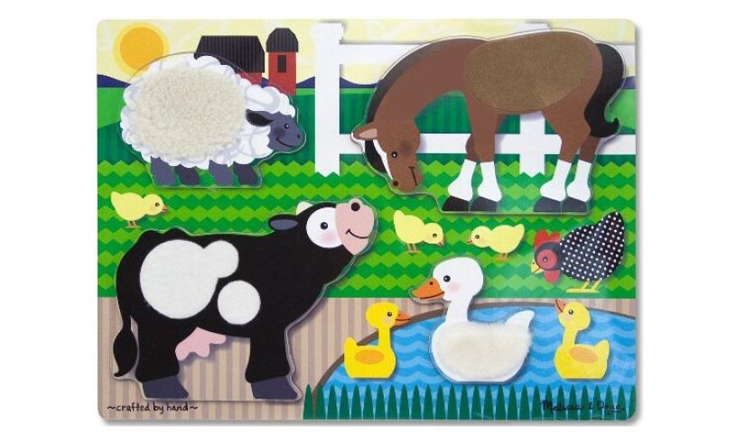 Farm Touch & Feel Tactile Puzzle for 1 year olds