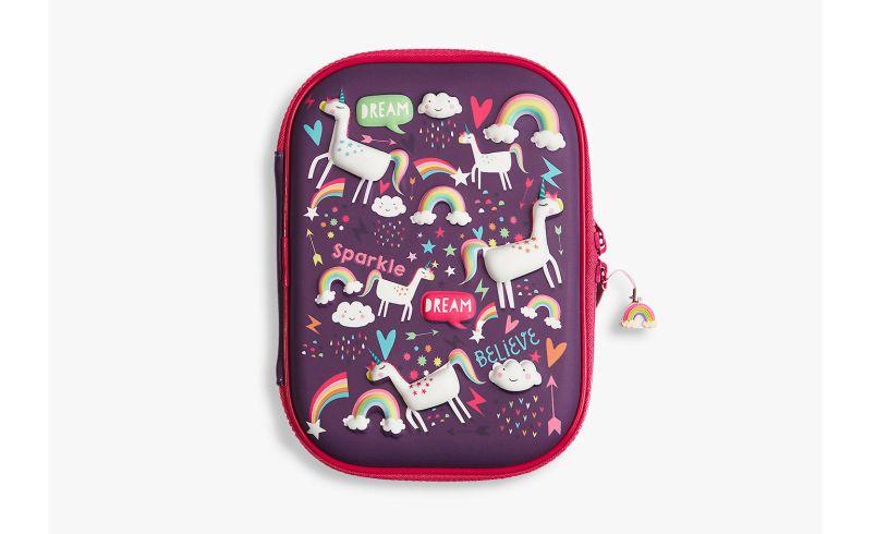 unicorn hardtop 3d pencil case