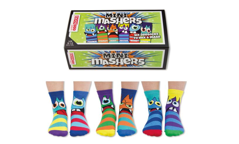 mini mashers socks and outer box