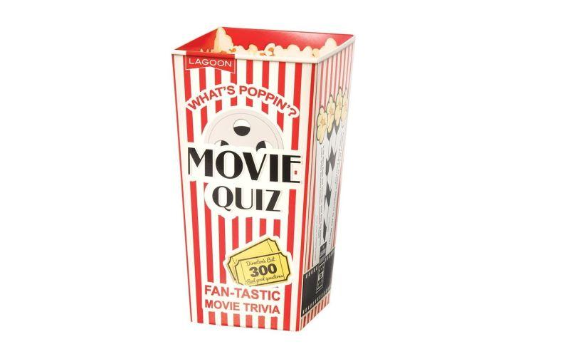 movie quiz in its popcorn-style case