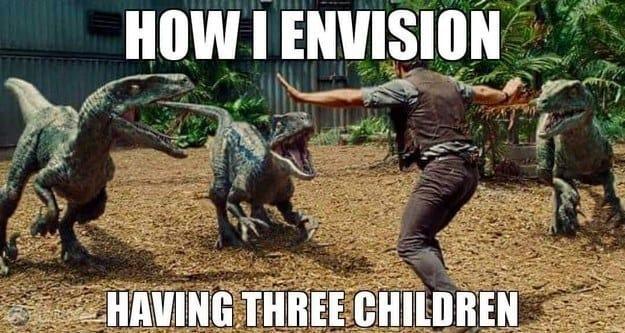 meme about having three children