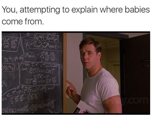 meme about explaining where babies come from