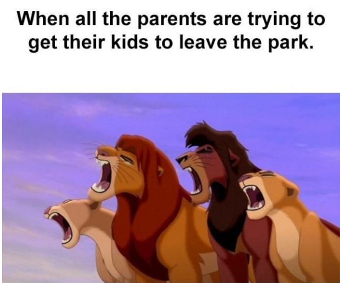 meme about leaving a play park